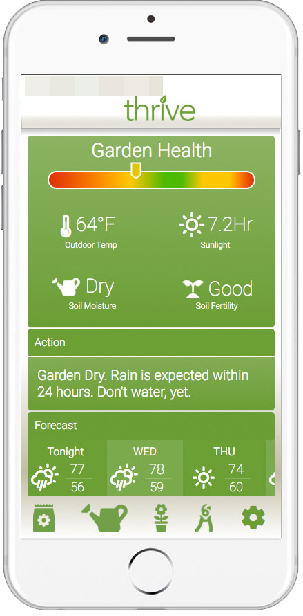 Gardening & Weather App Mockup