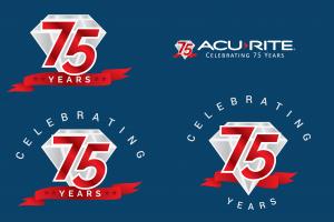 75th anniversary icon and logo design.