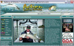 Fishing Charter Captain - Website design and development. 1999-2006