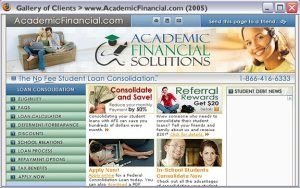 Academic Financial Version 1 - Design and development. 2004-2006