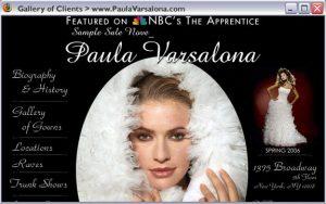 Paula Varsalona - Bridal Designer in Manhattan. Web design and marketing 2000-2016