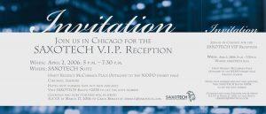 SAXOTECH VIP Printed invitation. 2007