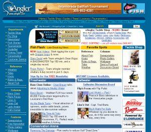 eAngler - Webmaster and Design 1999